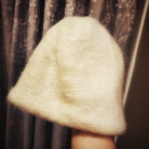 TILT Accessories - Tilt Fuzzy Cream Beanie Hat